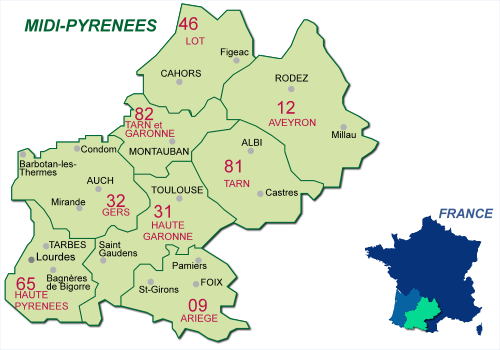 carte de france haute garonne