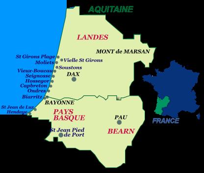 Carte Des Plages Du Sud Ouest De La France | My blog