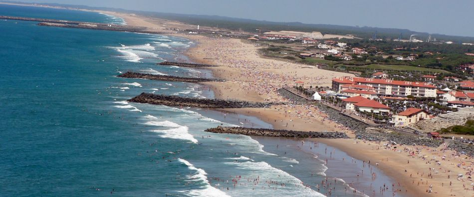 anglet beaches south west of france