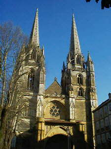 The cathedral in Bayonne in the pays basque, south west France