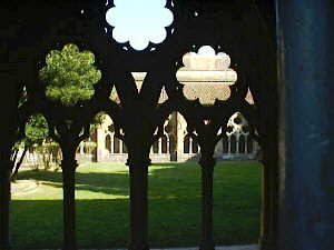 The cathedral cloisters in Bayonne in the French Basque country