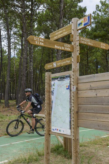 Lon, location de velo, VTT, VTC et pistes cyclables Landes Sud ouest France # Location Velo Bois Plage