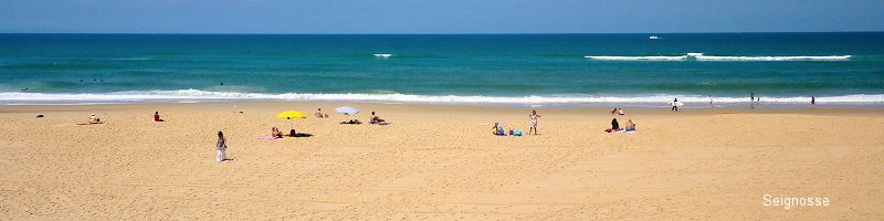 eignosse beach in th Landes